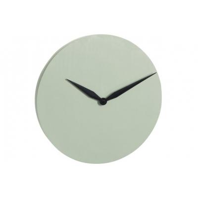Настенные часы J-LINE круглые в бетонном корпусе мятного цвета диаметр 40 см
