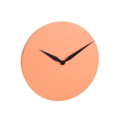 Настенные часы J-LINE круглые в бетонном корпусе оранжевые диаметр 40 см