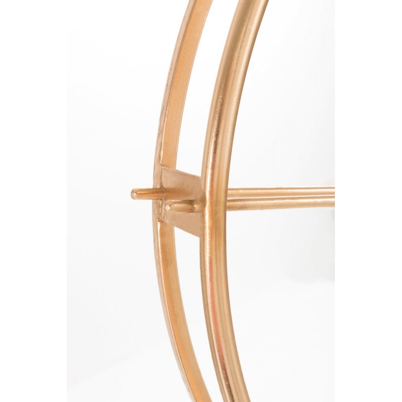 Настенные часы  J-LINE золотые в металлическом корпусе диаметр 82 см