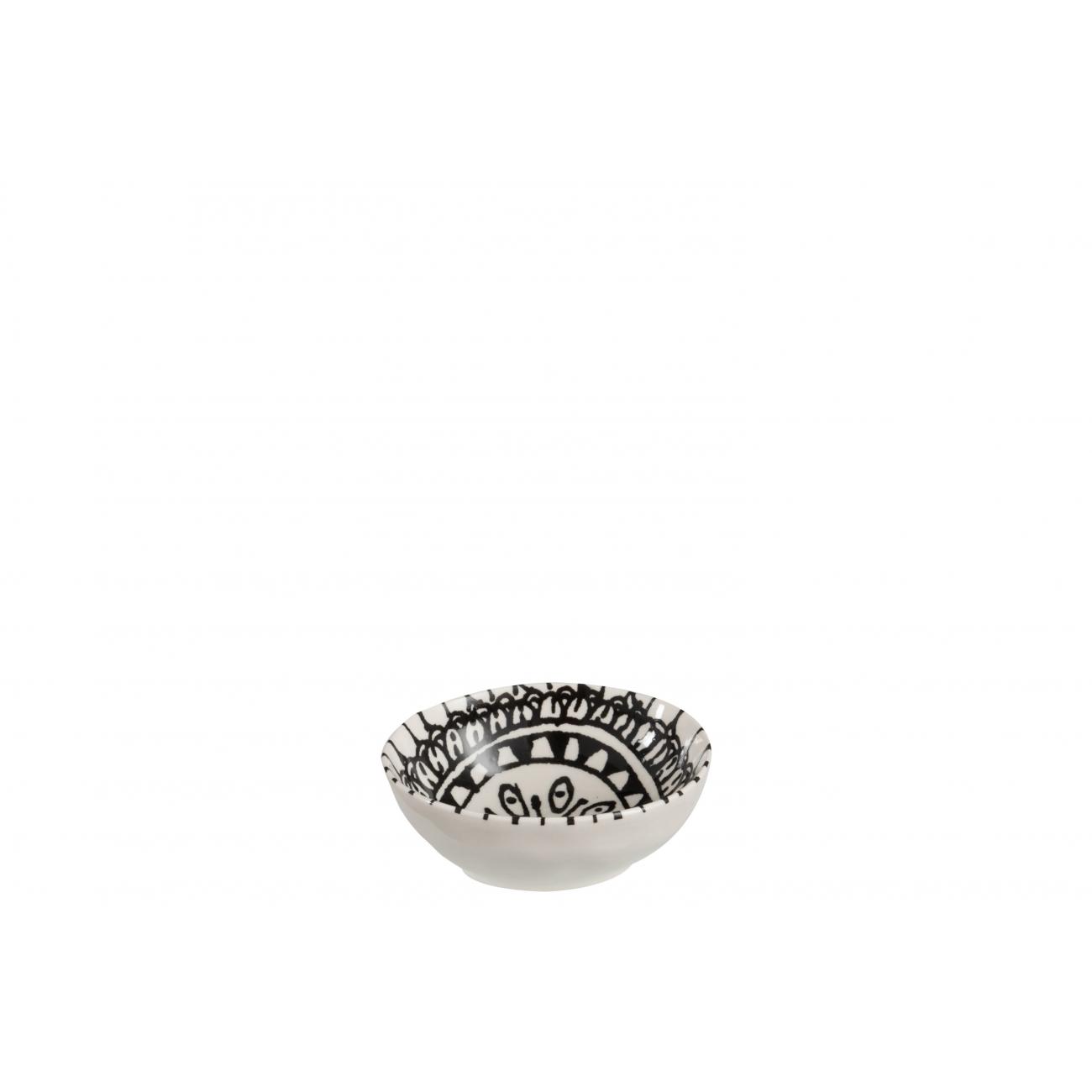 Пиала  J-LINE керамическая черно-белого цвета диаметр 8 см Бельгия