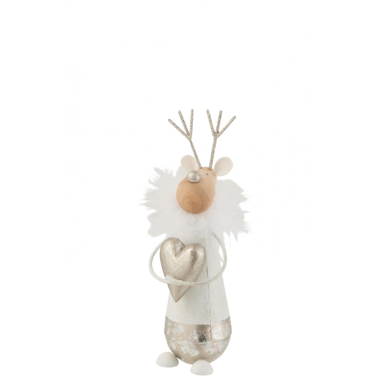 Статуэтка J-LINE олень новогодний с сердечком высота 22 см Бельгия