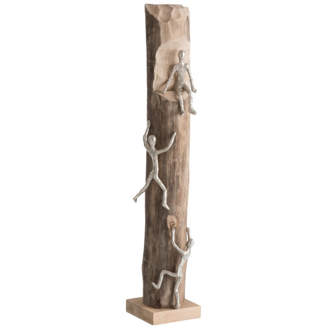 Статуэтка из дерева манго  J-LINE достигай своих вершин высота 75 см