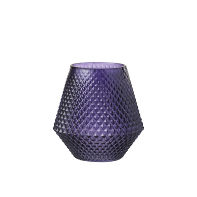 Ваза J-LINE  стеклянная  фиолетовая 20 см