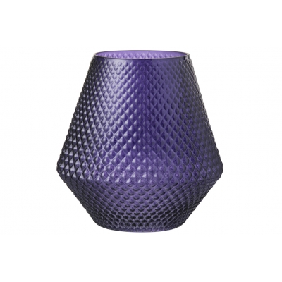 Ваза J-LINE стеклянная фиолетовая 25 см