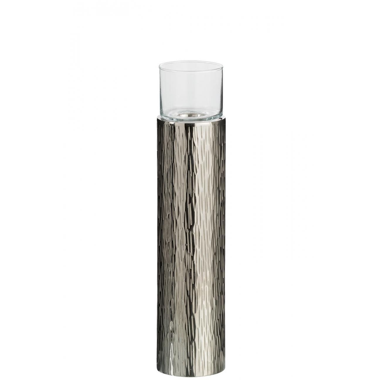 Подсвечник J-LINE алюминиевый  37 см