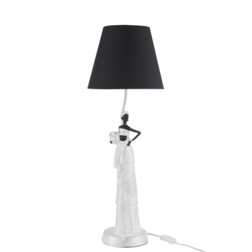 Настольная лампа с абажуром J-LINE африканский стиль 71.5 см