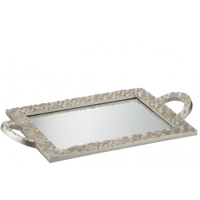 Поднос J-LINE  зеркальный