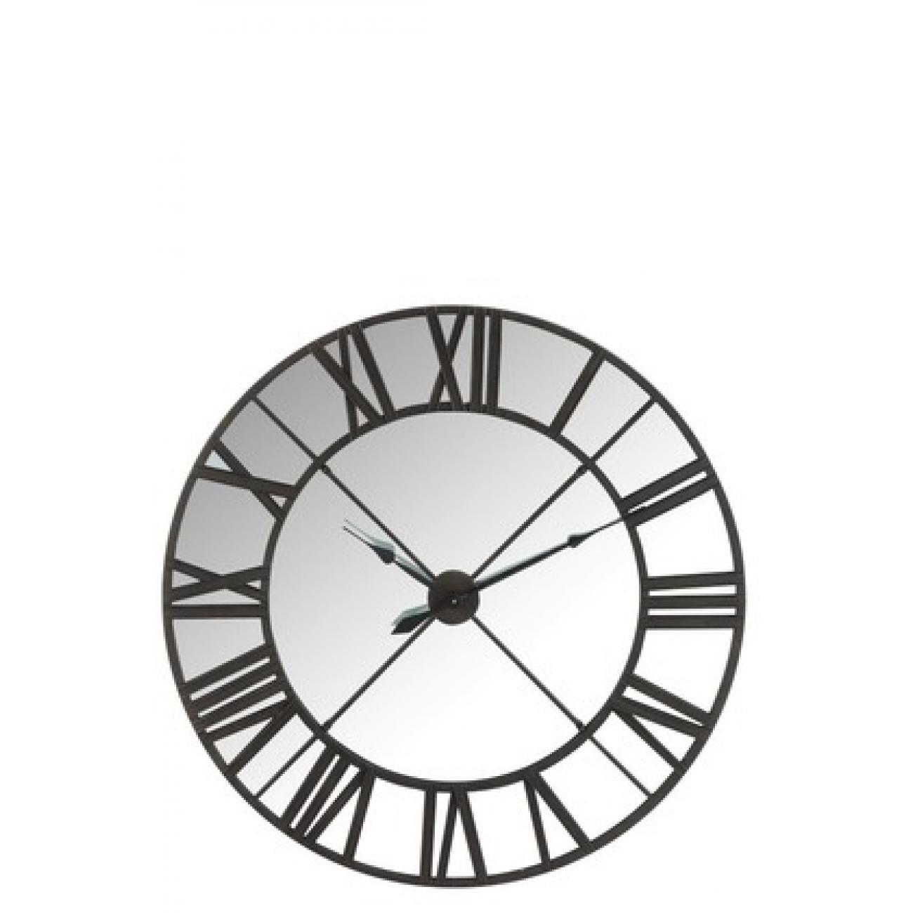 Настенные часы J-LINE в металлическом корпусе с зеркальной основой диаметр 123 см