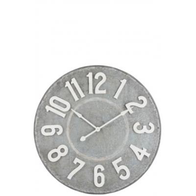 Настенные часы J-LINE круглые в металлическом корпусе серые диаметр 99 см