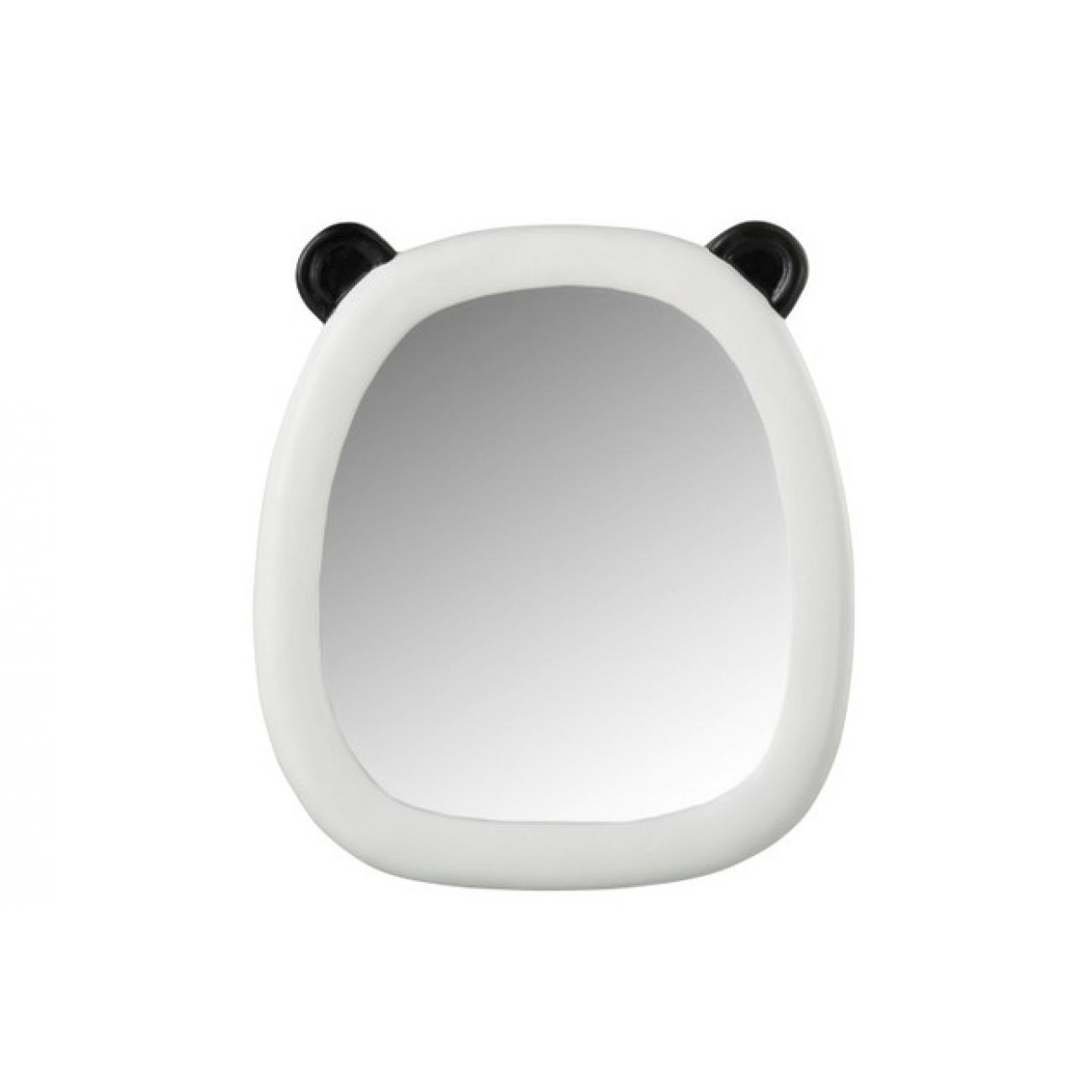 Зеркало J-LINE фигурное настенное в полирезиновой раме в форме головы панды 25х28 см Бельгия