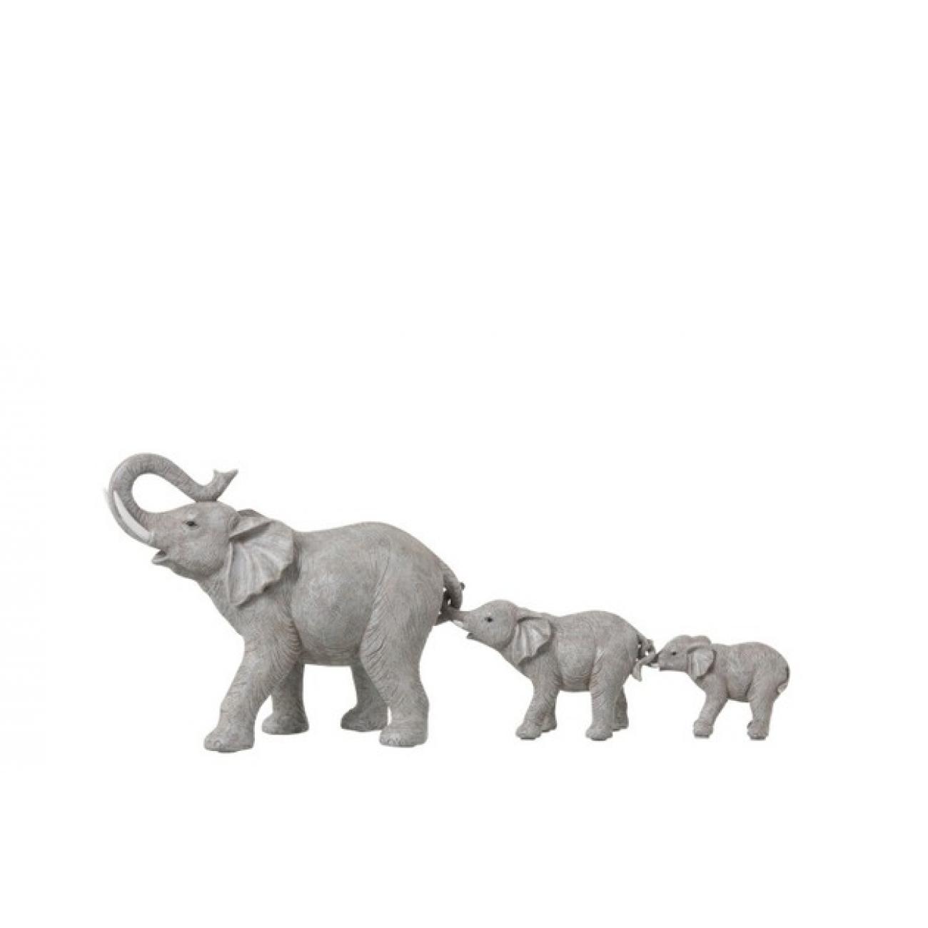 Статуэтка Слоны Мама и 2 слоненка  J-LINE 54 см