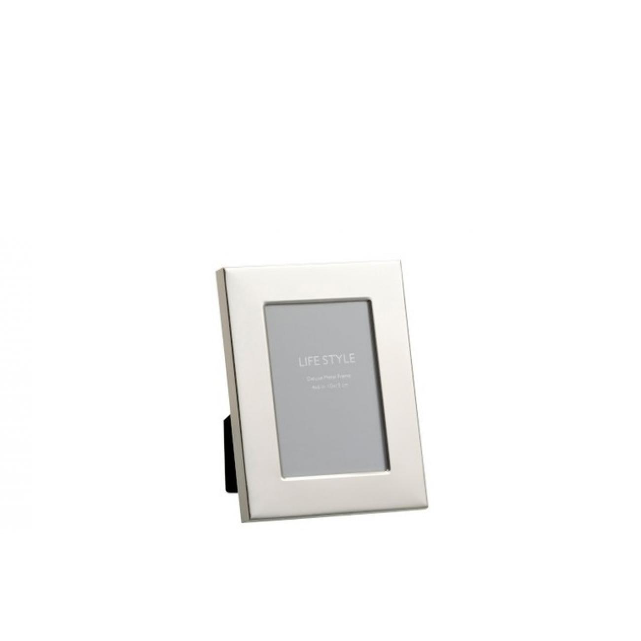 Фоторамка J-LINE металлическая зеркальная серебристая 10х15 см