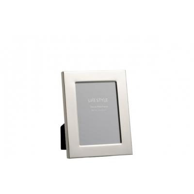 Фоторамка J-LINE металлическая  зеркальная серебристая 13х18 см