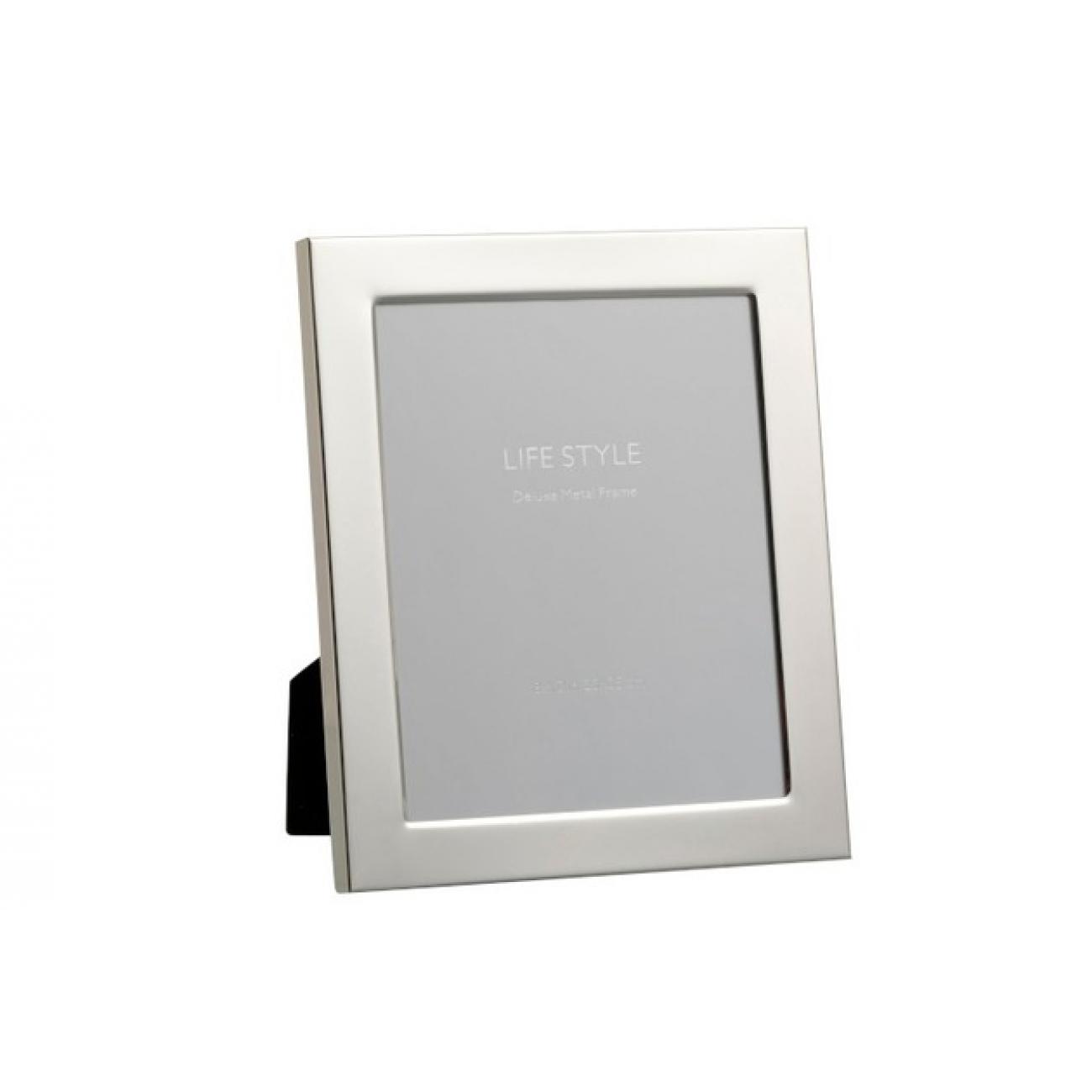 Фоторамка J-LINE металлическая зеркальная серебристая 20x25 см