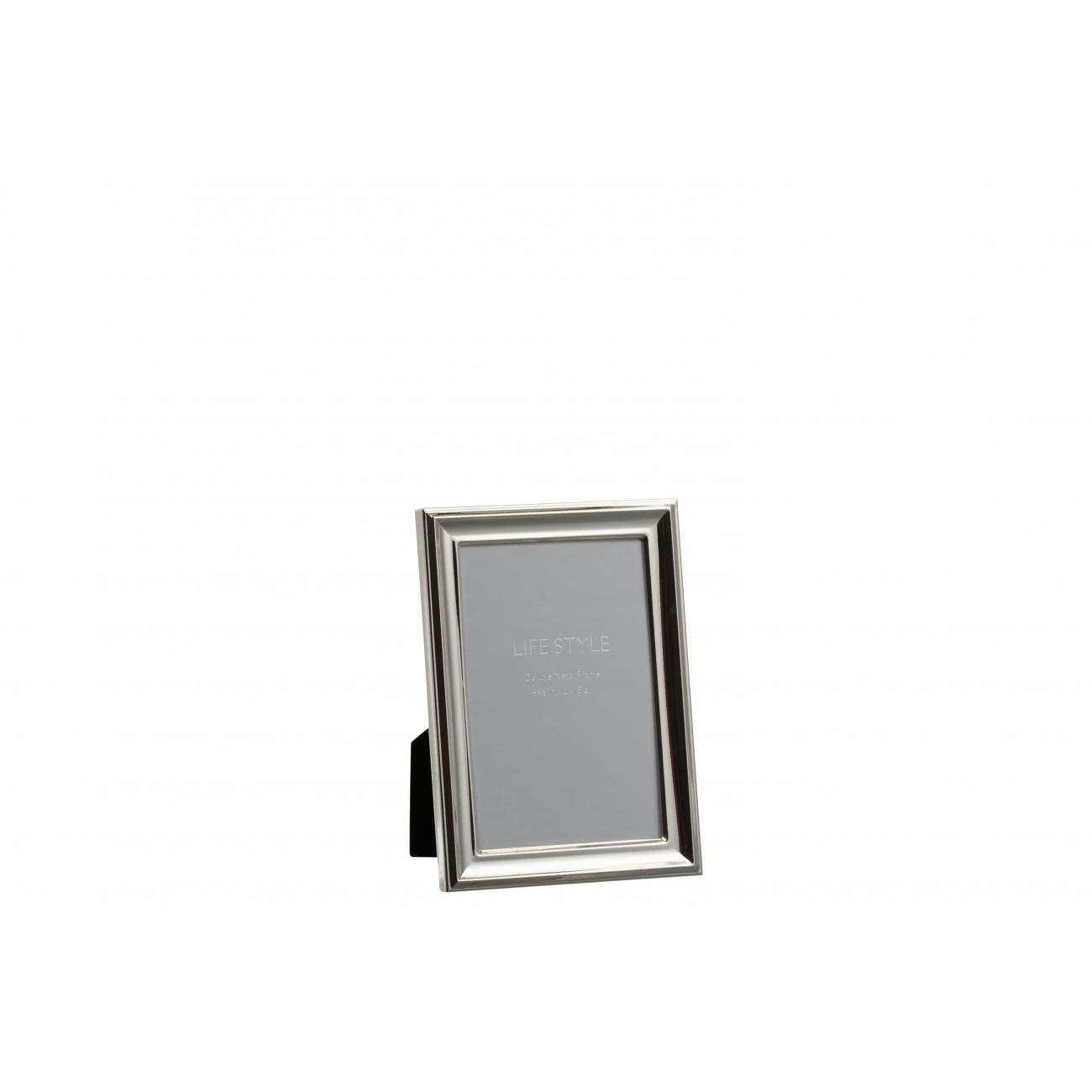 Фоторамка J-LINE металлическая классическая серебристая 10х15 см Бельгия