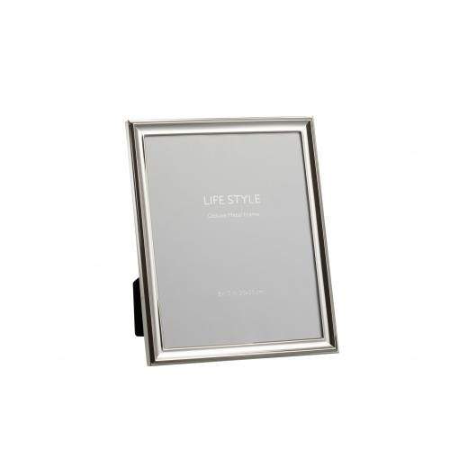 Фоторамка J-LINE металлическая классическая серебристая 20х25 см Бельгия