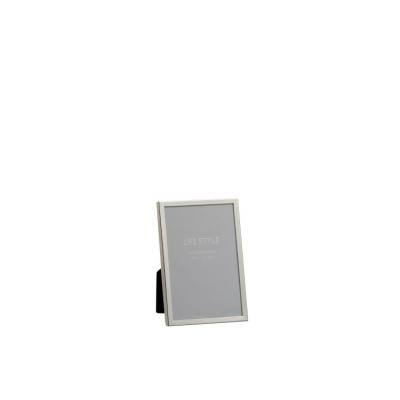 Фоторамка J-LINE металлическая серебристая 10х15 см