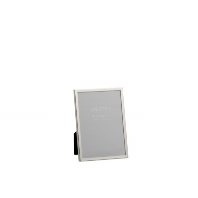Фоторамка J-LINE металлическая серебристая 13х18 см