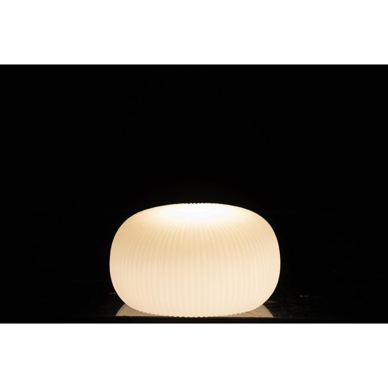 Ночник  J-LINE лед лампа  белая круглая  14 см
