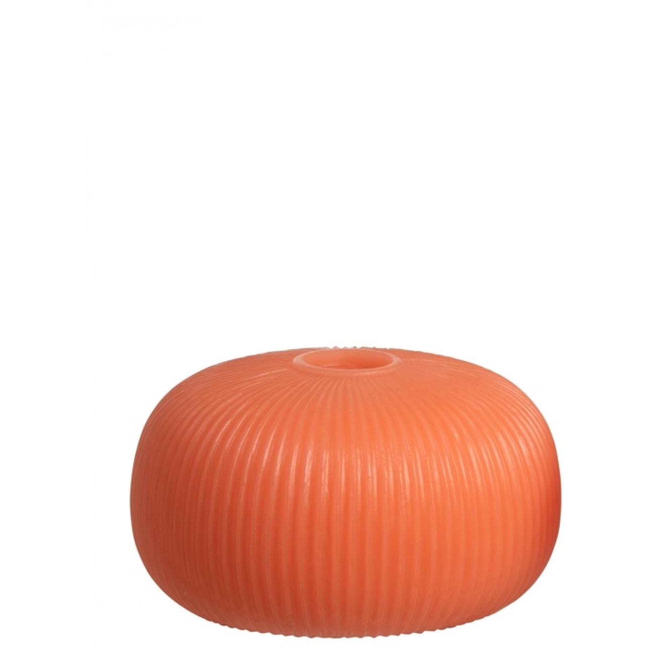 Ночник  J-LINE лед лампа   оранжевая круглая  14 см