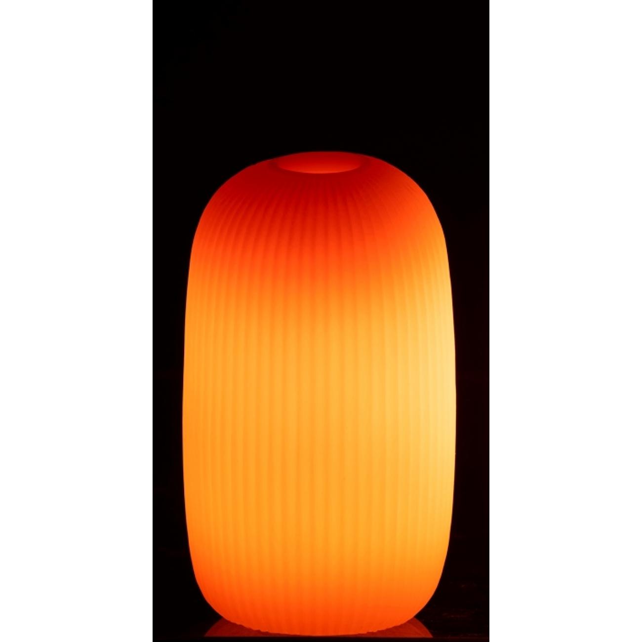 Ночник  J-LINE лед лампа  оранжевая 16 см