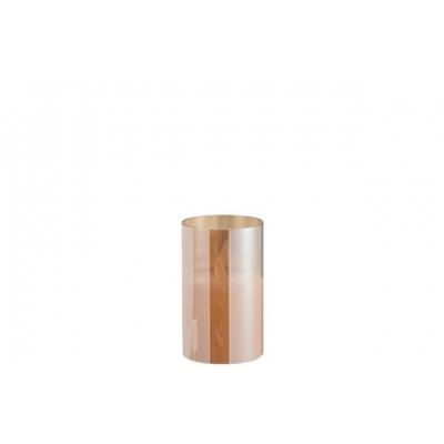 Ночник  J-LINE с имитацией живого огня  коричневая  13 см