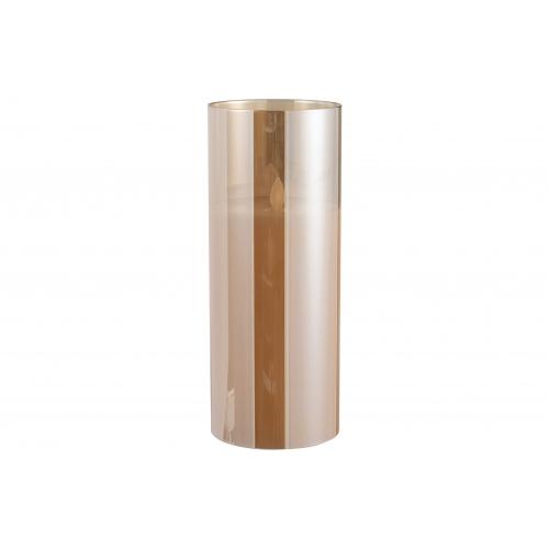 Ночник  J-LINE с имитацией живого огня  коричневый 25 см