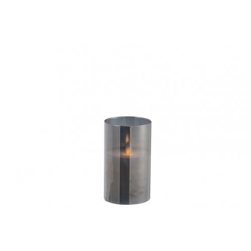 Ночник  J-LINE с имитацией живого огня черный  13 см