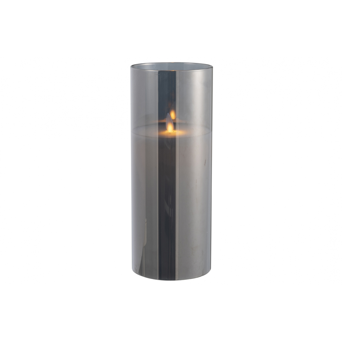 Ночник  J-LINE с имитацией живого огня черный 25 см