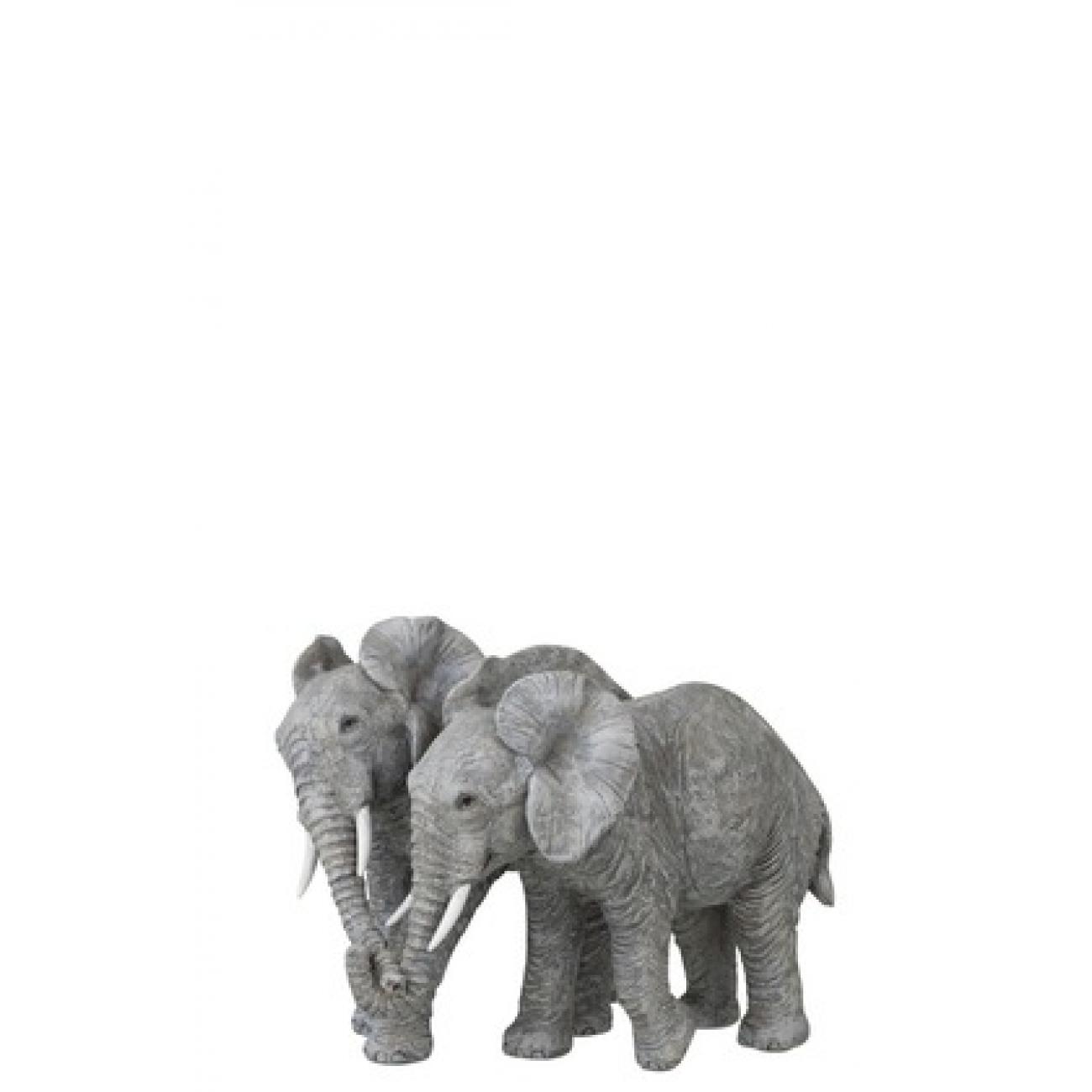 Статуэтка  J-LINE слоны влюбленная пара высота 19 см