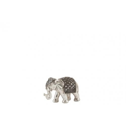 Статуэтка Слон J-LINE серебряного цвета 21х15х11