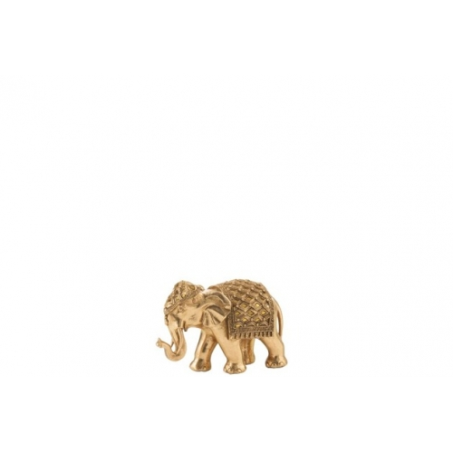 Статуэтка Слон J-LINE золотистого цвета 21х10х13