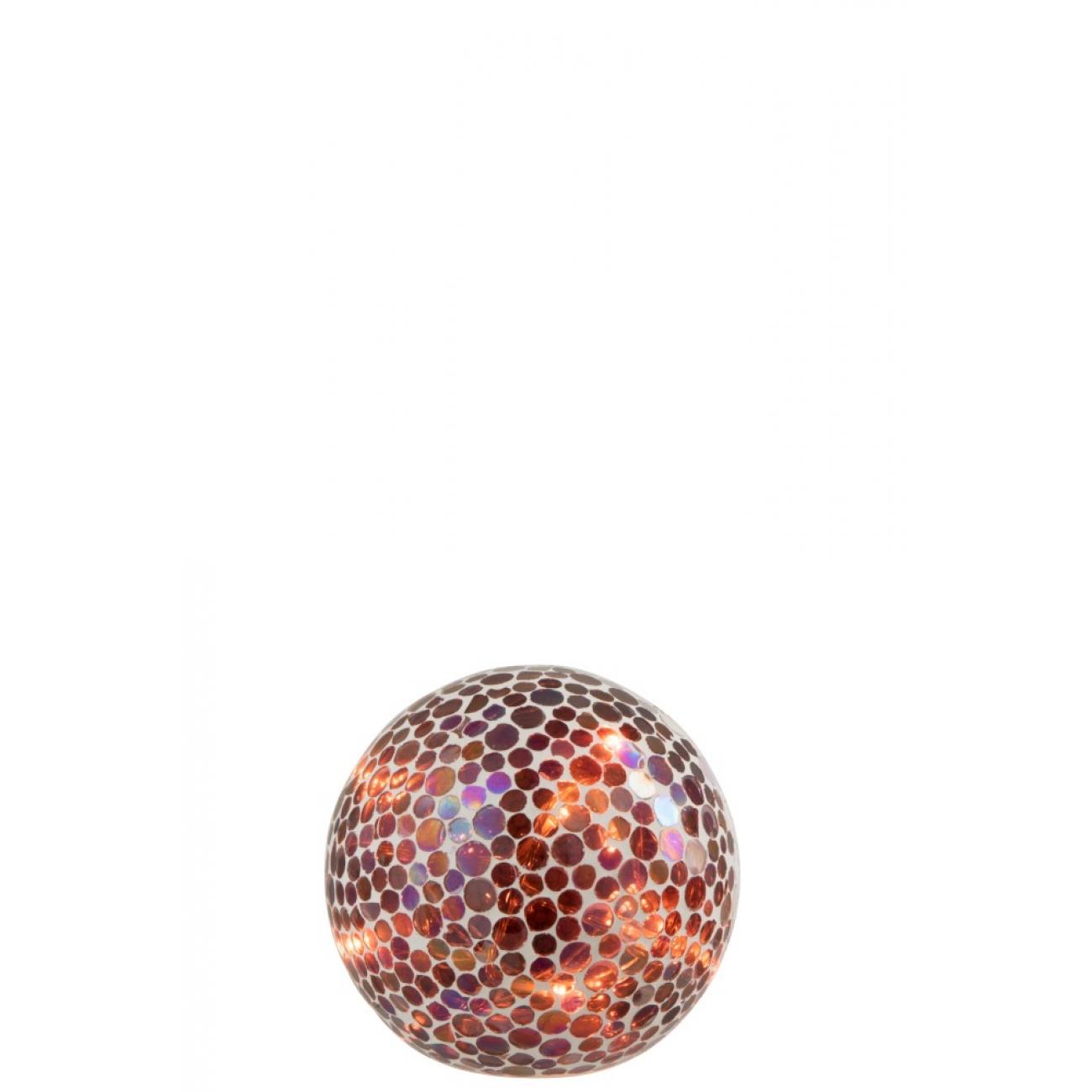 Ночник  J-LINE лед лампа в форме мозаичного шара диаметр 15 см