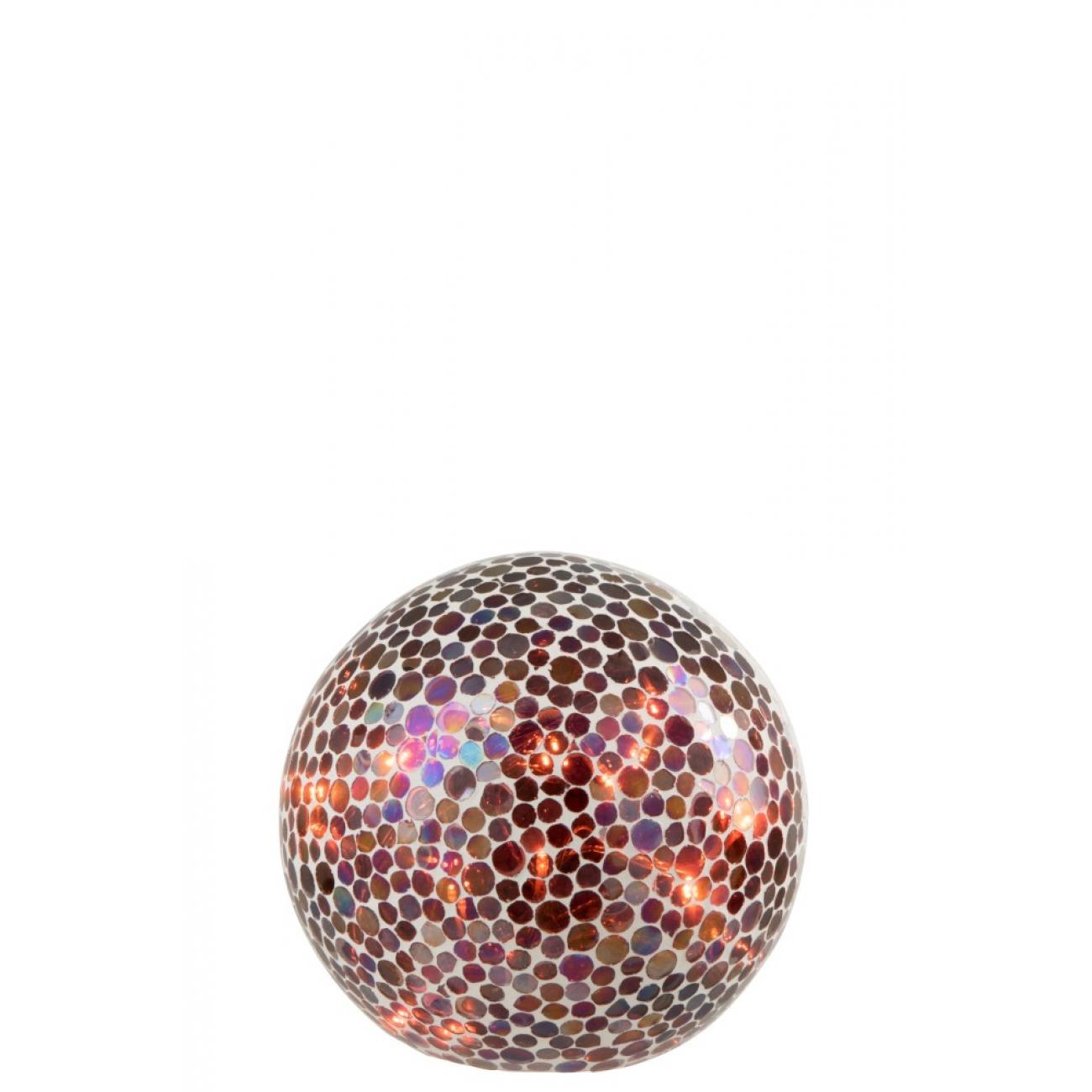 Ночник  J-LINE лед лампа в форме мозаичного шара диаметр 20 см