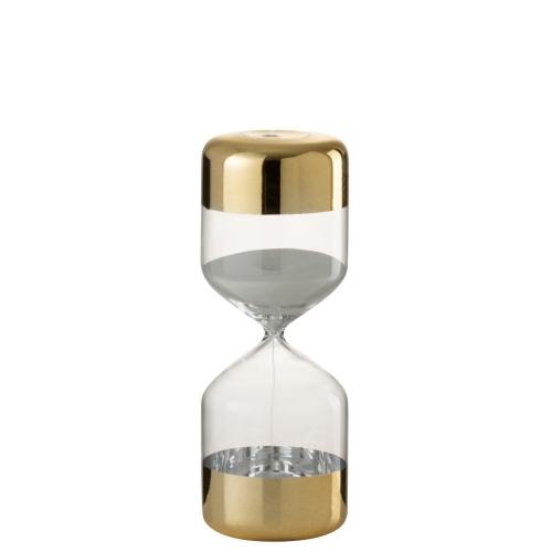 Настольные песочные часы J-LINE золотые 24 см