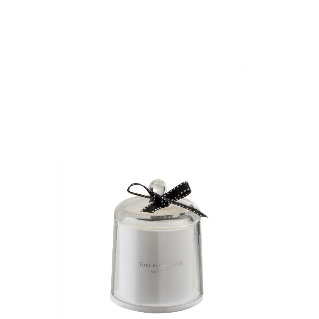 Свеча J-LINE ароматическая в шкатулке c куполом аромат лесной дождь
