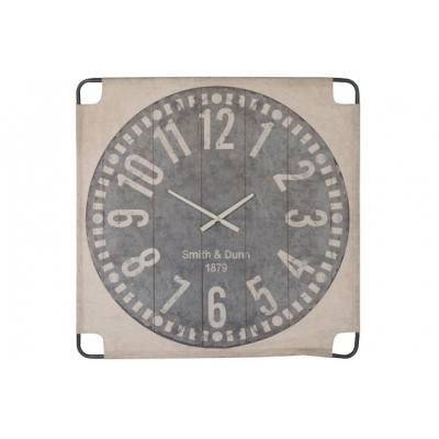 Настенные часы J-LINE квадратные на текстильной основе 105х105 см