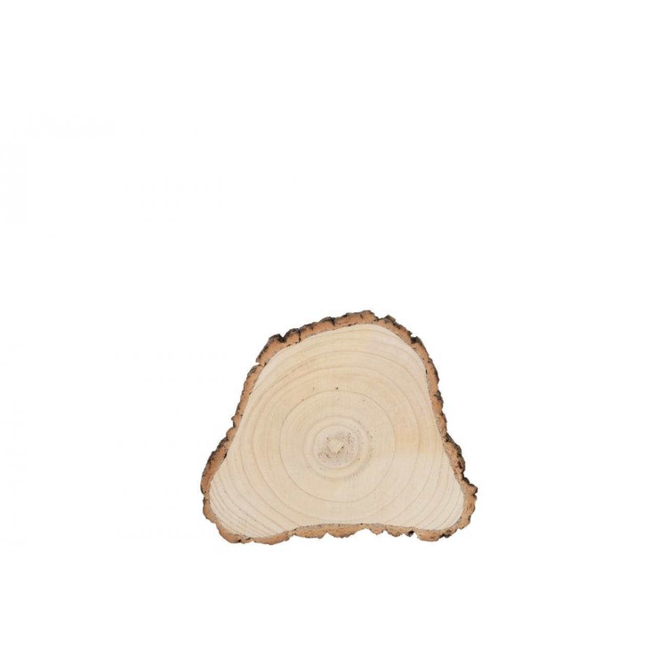 Подставка J-LINE деревянная спил срез  павловнии диаметр  29 см Бельгия