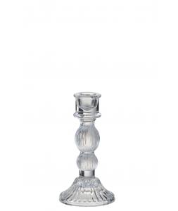 Подсвечник J-LINE стеклянный прозрачный фигурный высота 15 см Бельгия