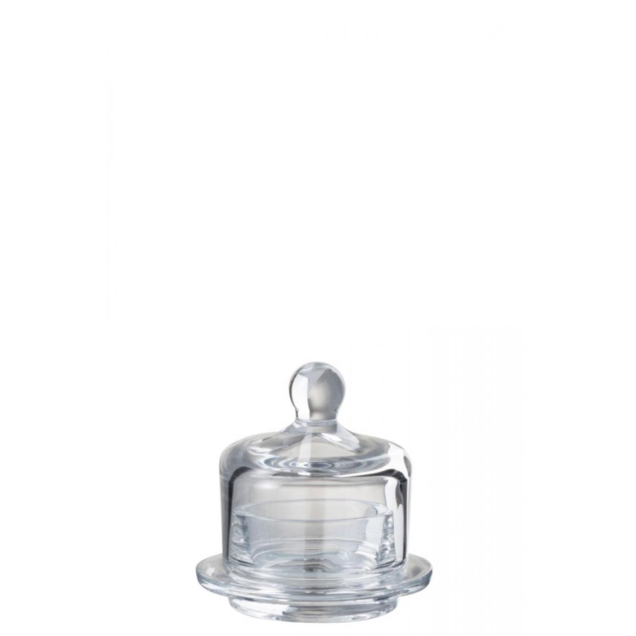 Икорница емкость для масла\соуса  J-LINE стеклянная масленка