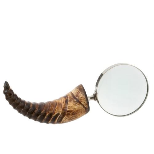 Увеличительное стекло J-LINE с деревянной ручкой в виде рога Бельгия