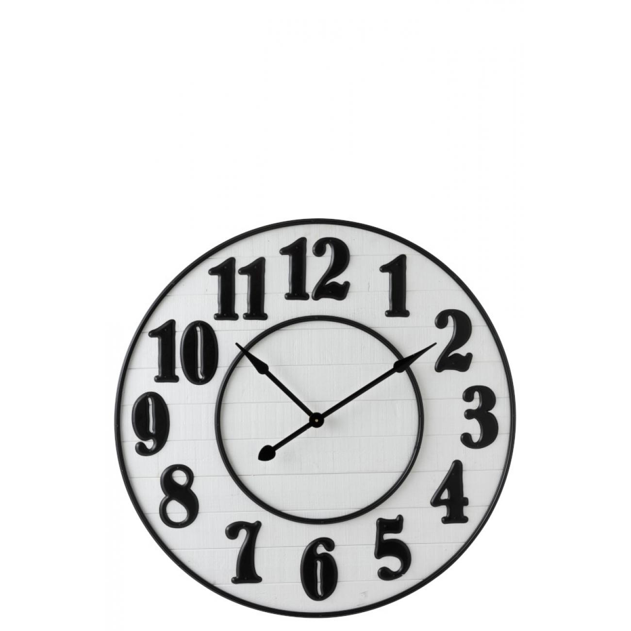 Настенные часы J-LINE круглые в деревянном корпусе диаметр 92 см