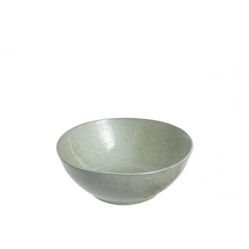 Тарелка фарфоровая обеденная J-LINE зеленого оттенка диаметр 19 см