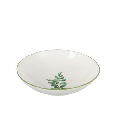 Тарелка фарфоровая обеденная J-LINE круглая диаметр 21 см