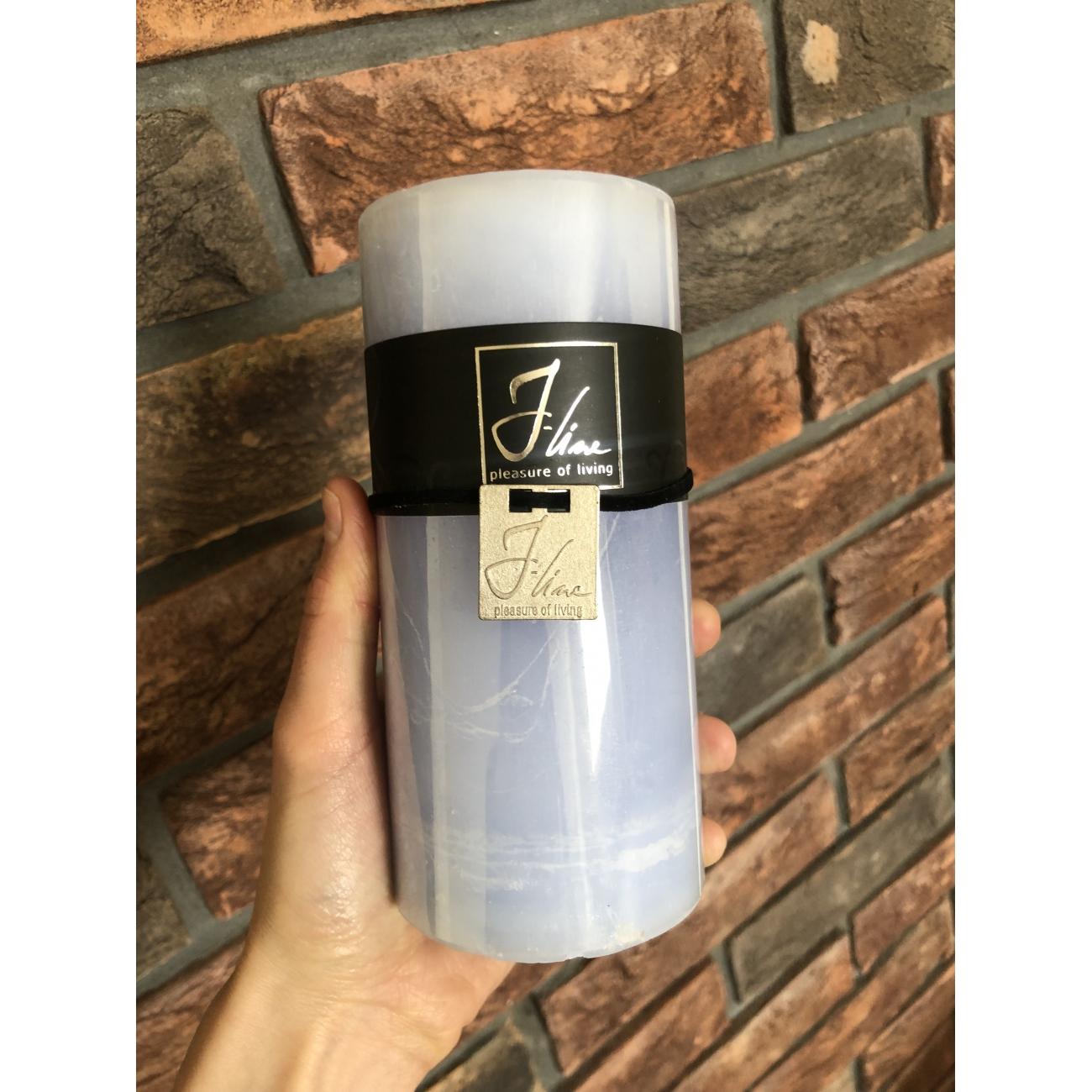 Свеча J-LINE 15 см небесно голубого цвета
