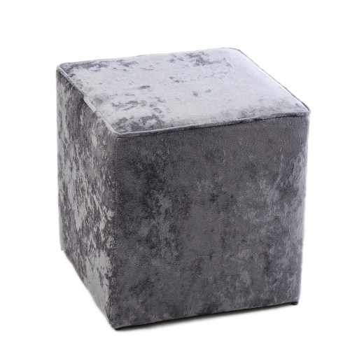 Пуф J-LINE вельветовый серый 40х40х40 см