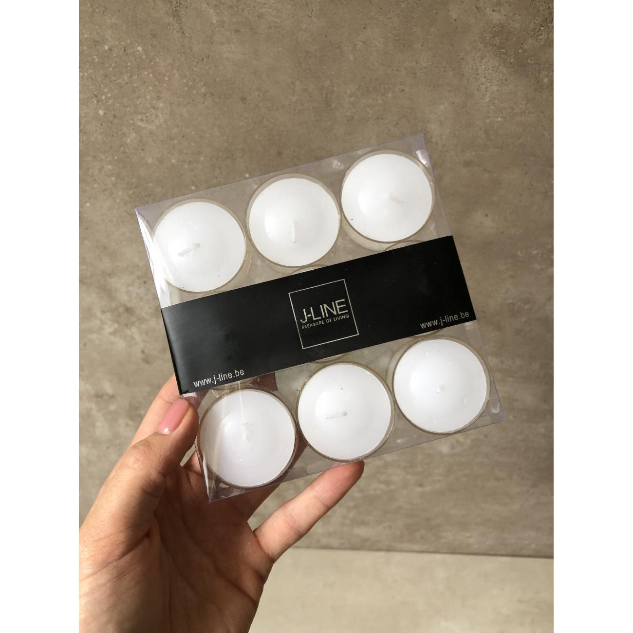 Чайные свечи J-LINE набор из 9  штук белого цвета