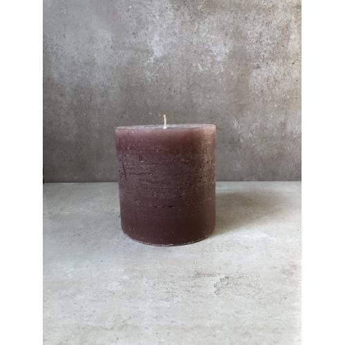 Свеча J-LINE  10х10 см ароматическая бордового цвета