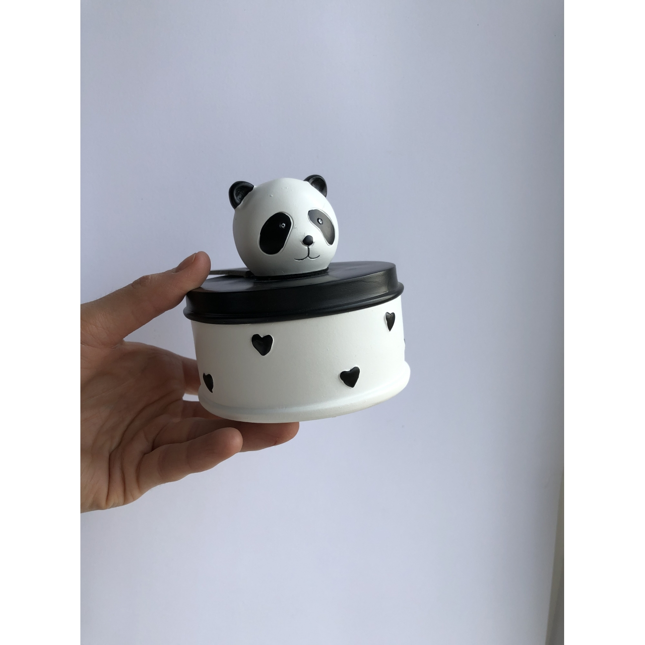Шкатулка J-LINE деревянная Панда