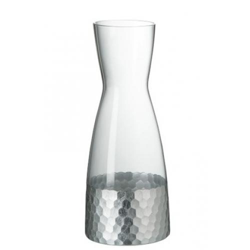 Графин J-LINE стеклянный с серебряным основанием